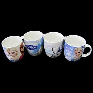 Disney Frozen Ceramic Coffee Tea Mug Cup 4pcs Set 10 5oz Made in Korea ...