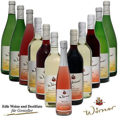 WEINGUT WÖRNER: 12 Fl. Wein - Weißwein Rotwein halbtrocken - Probiersortiment