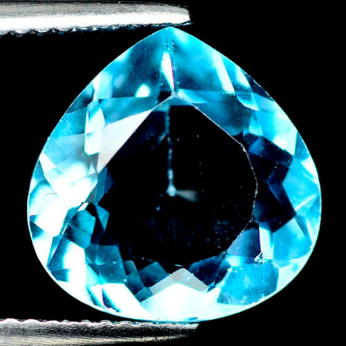 5.77 CT AAA! NATURAL! SKY BLUE BRAZIL TOPAZ PEAR