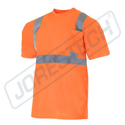 Hi Vis T Shirt Ansi Class Ii Reflective Safety Orange Short Sleeve Visibility