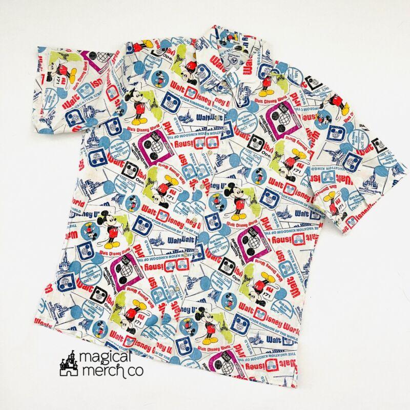 2021 Walt Disney World 50th Anniversary Reyn Spooner Passholder Camp Shirt XL