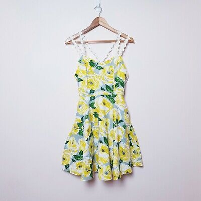 Horrockses Size 10 Summer floral Daisy 50s style rockabilly Fit & Flare Dress