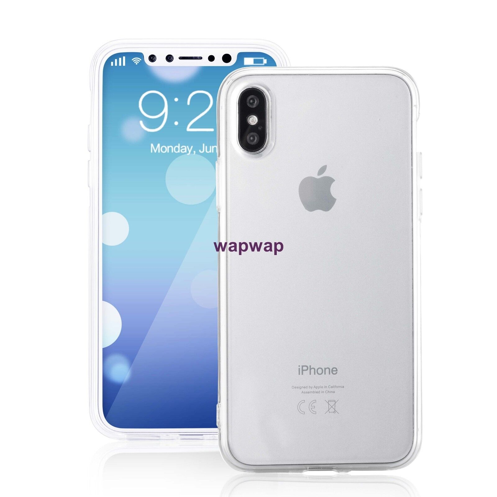For Apple iPhone X XS Case Silicone Clear Bumper Gel iPhone 10 10S Cover 2