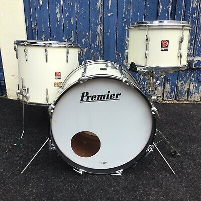 """Vintage Premier Drum Kit 12"""",16,20"""" from 1960's"""