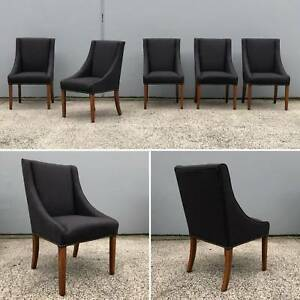 MATILDA DINING CHAIRS - MOONLIGHT AND CARBON COLOUR Eumemmerring Casey Area Preview