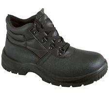 Chukka Safety Work Boots Leather Steel Toe Cap & Midsole Size 3-13 Mens New