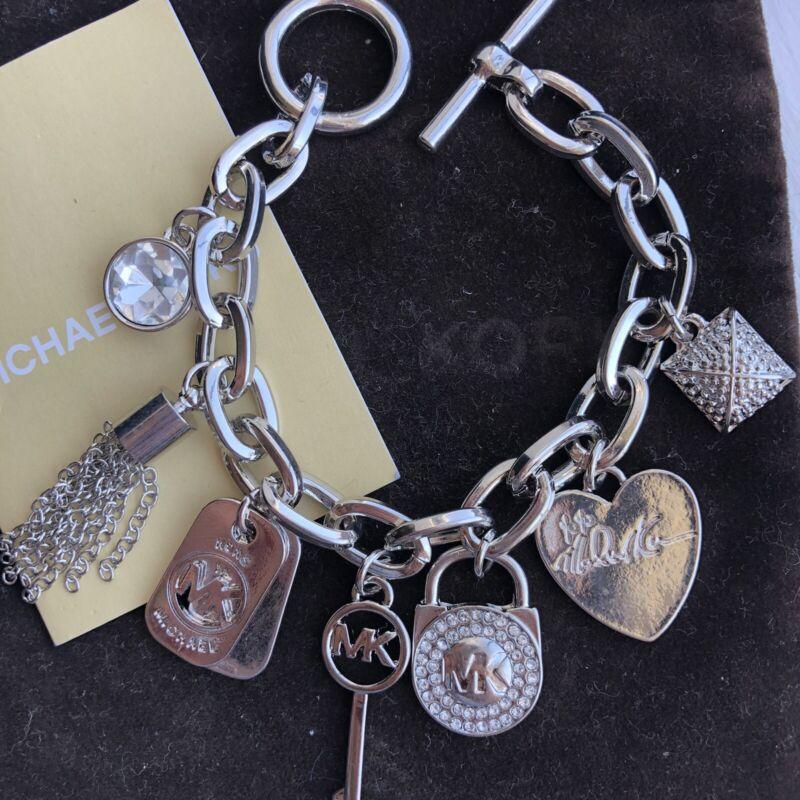 MK Michael Kors Charm heart padlock Womens Jewelry Accessory bracelet