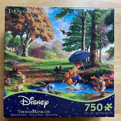 "Disney Thomas Kinkade ""Winnie the Pooh"" 750 Piece Puzzle (Open Box, Sealed Bag)"
