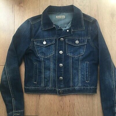 Used, Earl Jean Denim Jean Jacket Coat Dark Blue Size  Small Womens Long Sleeve for sale  Hoboken