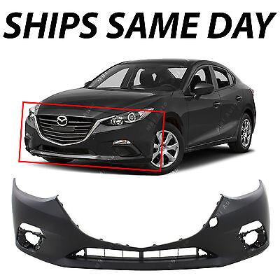 New Primered - Front Bumper Cover Fascia For 2014 2015 2016 Mazda 3 14-16
