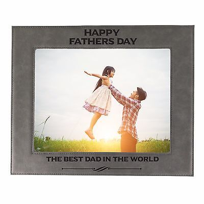 Fathers Day Frames (Personalized 4x6 Picture Frame for Dad - Custom Fathers Day Gift for Him)