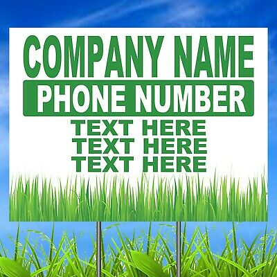 Landscaper Business Custom Yard Sign Custom Landscaping Business Lawn Sign