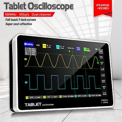 Fnirsi 1013d Digital 2ch 100m Bandwidth 1gs Sampling Rate Tablet Oscilloscope Us