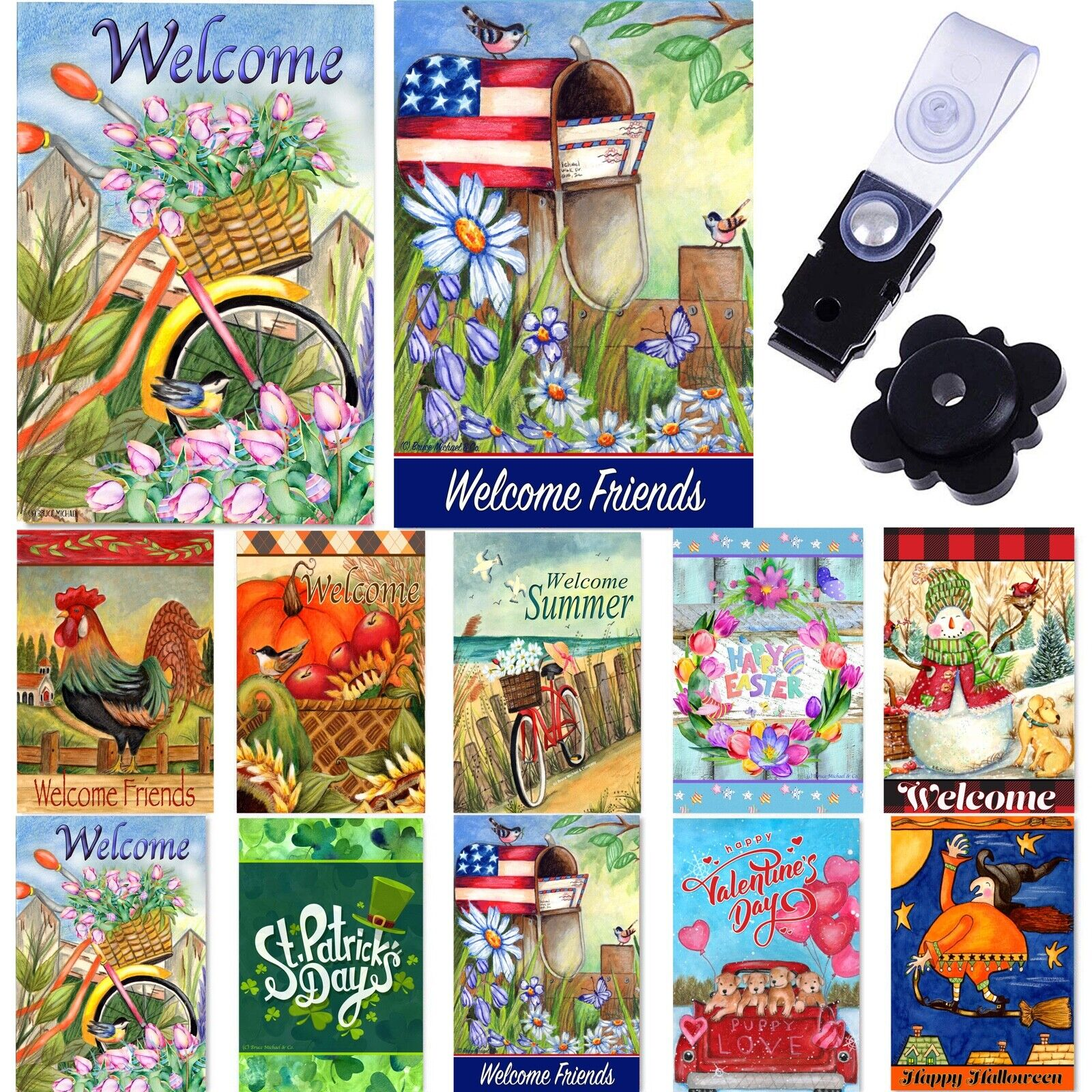 garden flags set of 10 12x18 inches