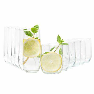 12er Set Gläser Bella Whiskygläser Longdrinkgläser Glas Trinkgläser Wassergläser