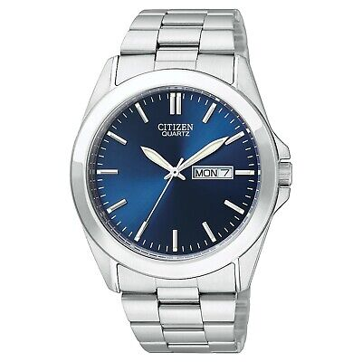Citizen Men's BF0580-57L Quartz Blue Dial Silver-Tone Bracelet 40mm Watch