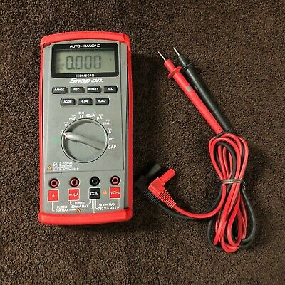 Snap-on Tools Eedm504d Auto-ranging Digital Multimeter With Probes
