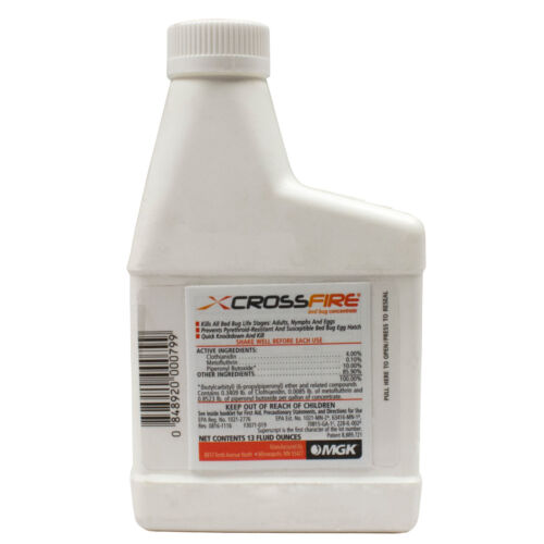 Crossfire Bed Bug Concentrate Kills Bed Bugs in 5 Mins Makes 1 GL - NOT FOR NY