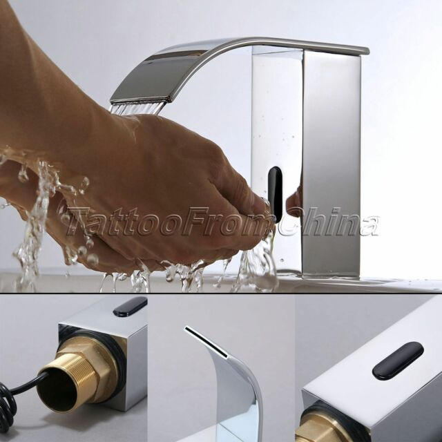 Bathroom Faucet Touchless bathroom faucet automatic sensor hands touchless waterfall chrome
