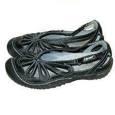 Jambu 9.5 Black Marigold Sandals Vegan Walking Shoes Flats ...