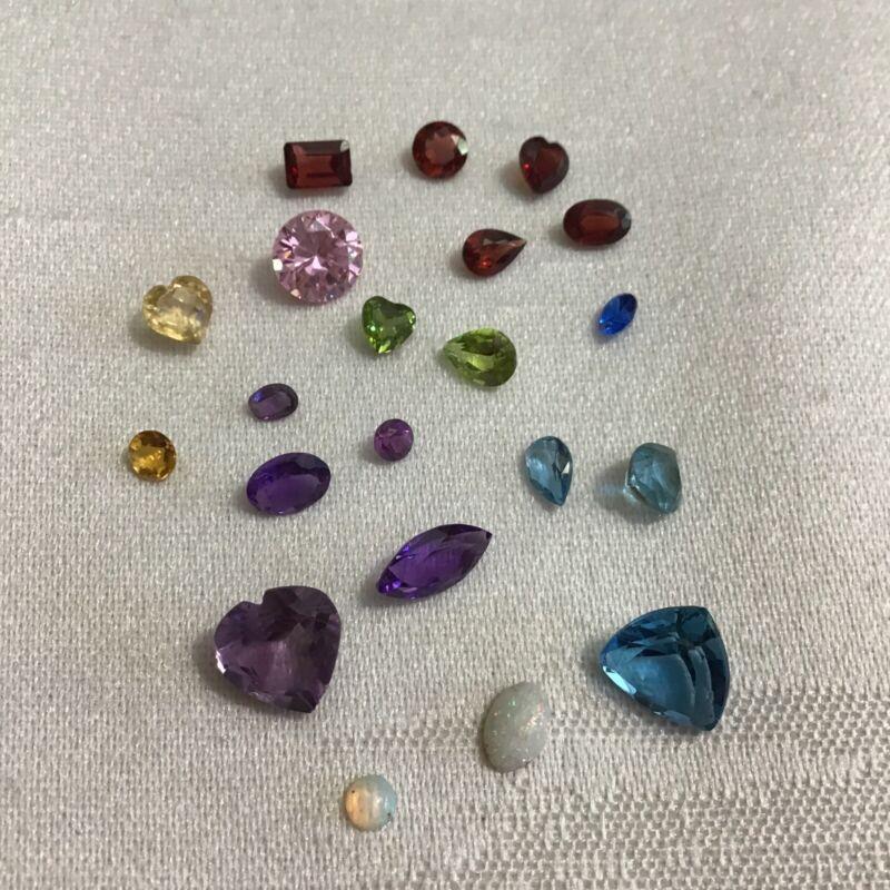 Amethyst, Garnet, Opal, Blue Topaz, Citrine+ More Gemstones From 14k Gold Scrap