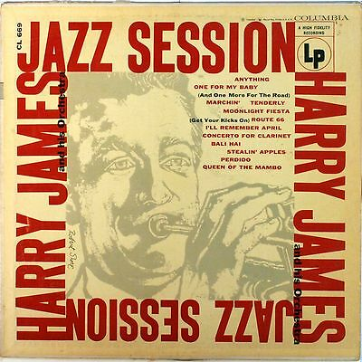 HARRY JAMES Jazz Session VINYL LP - very nice condition - CL