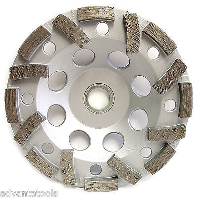 5 Turbo Diamond Cup Wheel For Concrete Stone Masonry Grinding 78-58 Arbor