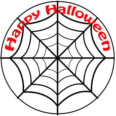 Halloween Spider Web Cake Topper - Easy Pre-cut Round 8