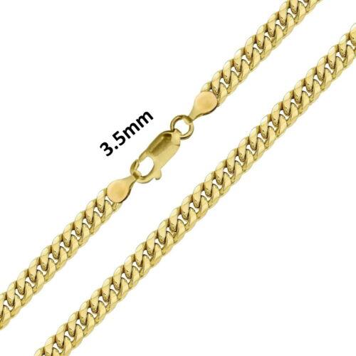 "Real 10k Yellow Gold Mens / Women Miami Cuban Link Bracelet / Anklet 3.5 mm, 10"""