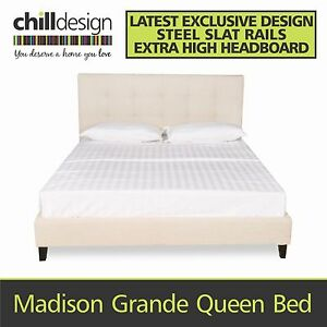 DIRECT TO PUBLIC NEW QUEEN UPHOLSTERED TUFTED FABRIC BED FRAME Brisbane City Brisbane North West Preview
