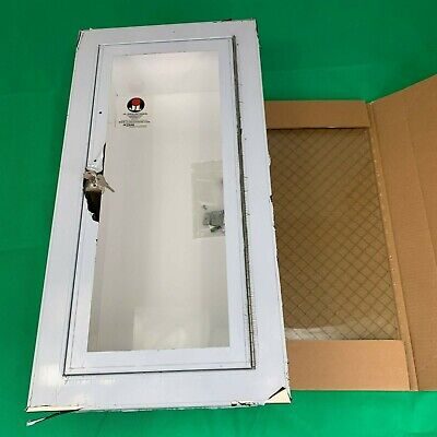 Jl Industries Ss Fire Extinguisher Cabinet C1036-g13 1 12 Wire Mesh Glass