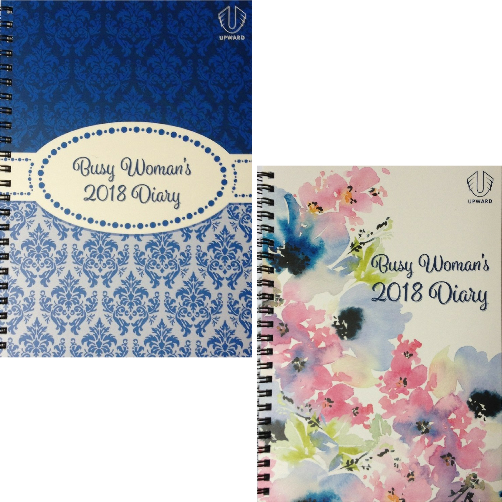 DIARY BUSY WOMAN'S 2018  Week Spread A5 Spiral Year Planner