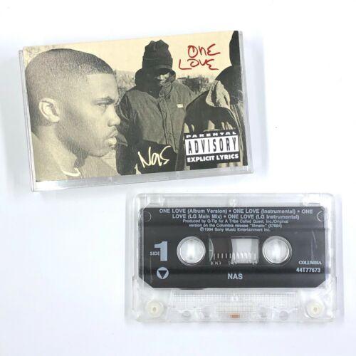 NAS One Love Cassette Tape Maxi-Single 1994 Rap Hip-Hop Rare