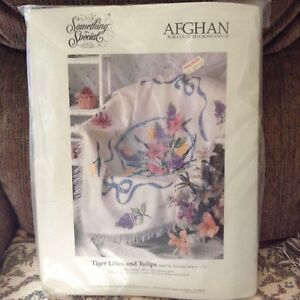 Counted cross stitch afghan