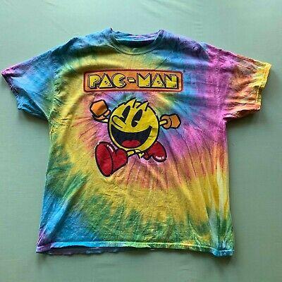 Pac-Man Men's Big Logo Tie Dye T-Shirt Multicolor Large