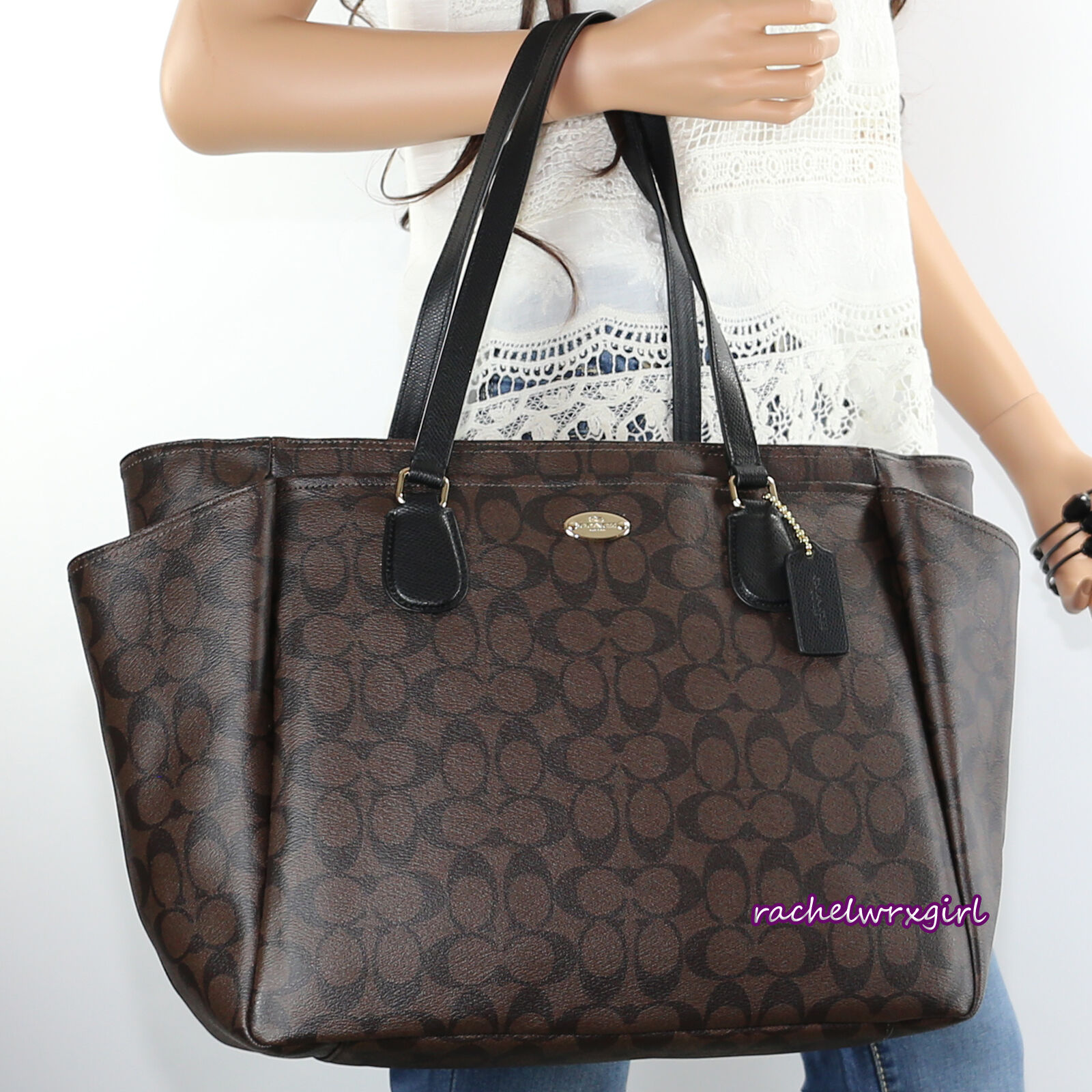baby bag coach outlet  coach signature multifunction