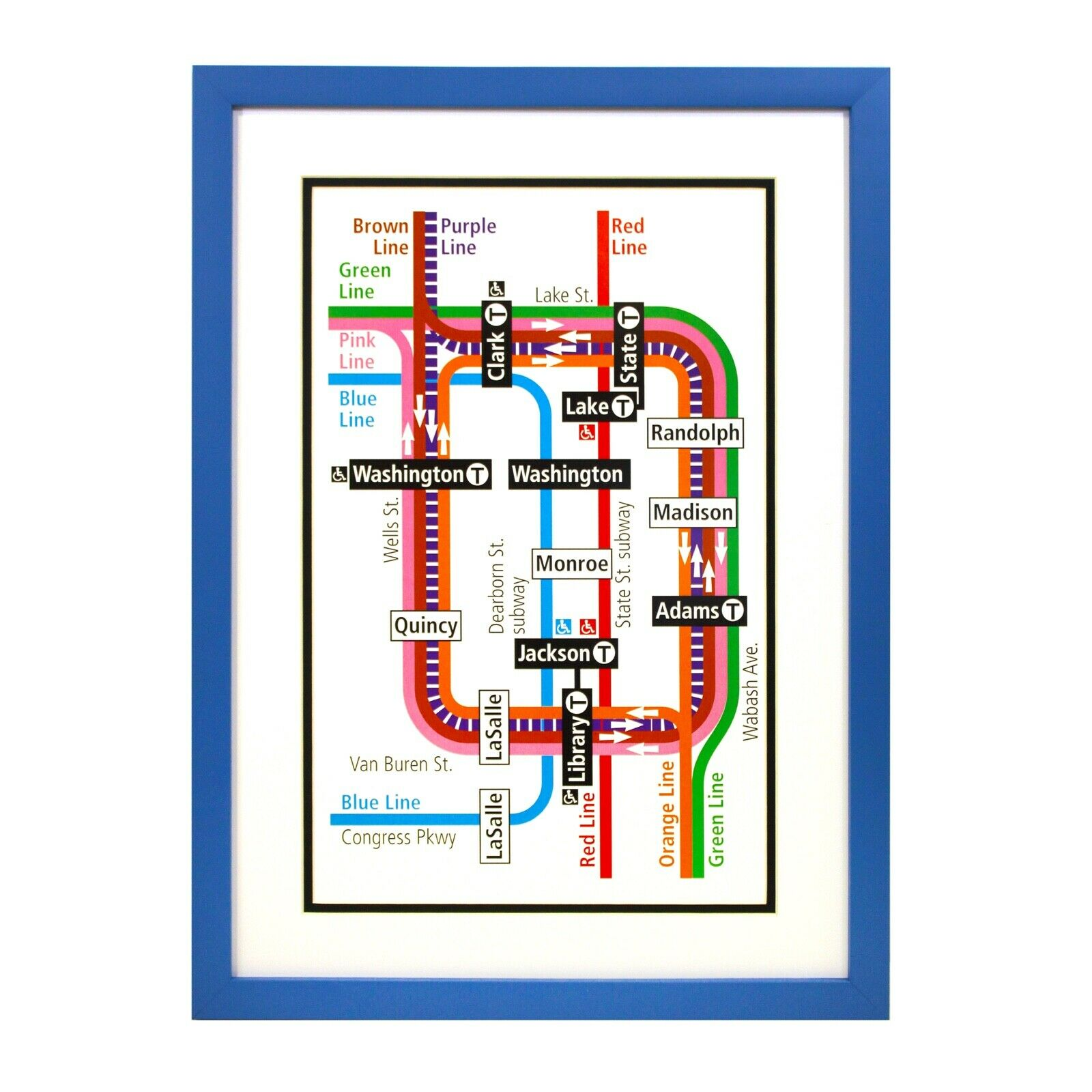 Elevated Chicago Chicago Transit Framed Chicago Art