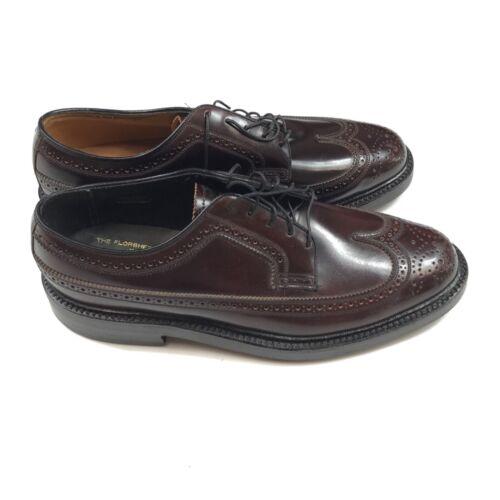 Vintage 1970s NOS Deadstock Florsheim Kenmore 93605 Shell Shoes Men's 8E