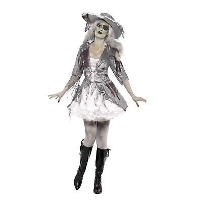 Adult Ladies Sexy Zombie Ghost Treasure Girl Pirate Halloween Costume Caribbean ()