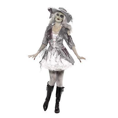 Erwachsene Damen Sexy Zombie Geist Schatz Mädchen Piraten Halloween Kostüm