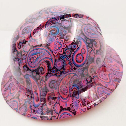 New Full Brim Hard Hat Custom Hydro Dipped HOT PINK Brad Paisleys .Free Shipping 2