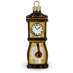 Grandfather Clock Glass Christmas Ornament