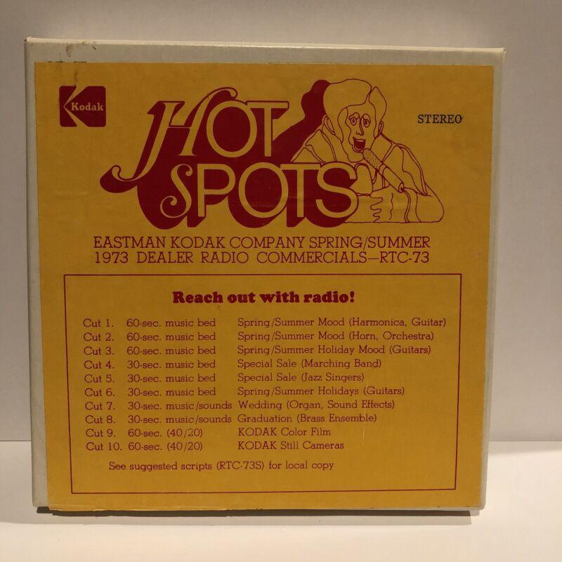 """Vintage Eastman Kodak """"Hot Spots"""" 1973 Spring / Summer Dealer Radio Commercials"""