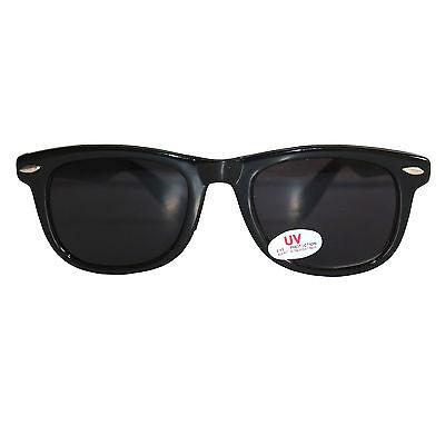 Stylische Coole Sonnenbrille RKW69, Schwarz Gläser extra dark, Blues Brothers