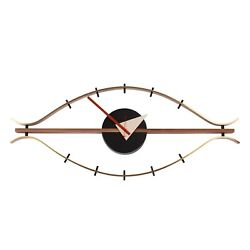 Mid Century Modern Eye Clock Nelson Style 30 Wide FAST + FREE SHIPPING