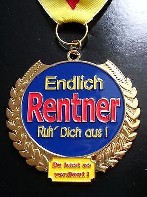 Orden für Rentner Medaille Rente Ruhestand Geschenk Auszeichnung ()
