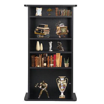CD Media Storage Cabinet DVD Book Shelf Adjustable 5 Layers Customized Display