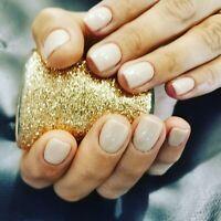 Shellac gel polish manicure