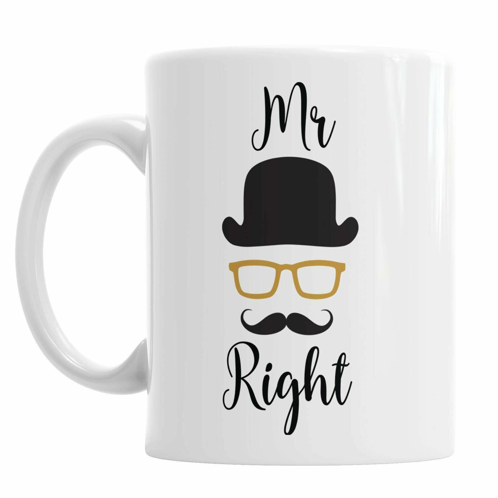 Mr Right Valentine s Day Mug Birthday Mug Mug Gift Fun Mug Husband Mug Boyfriend - $13.99