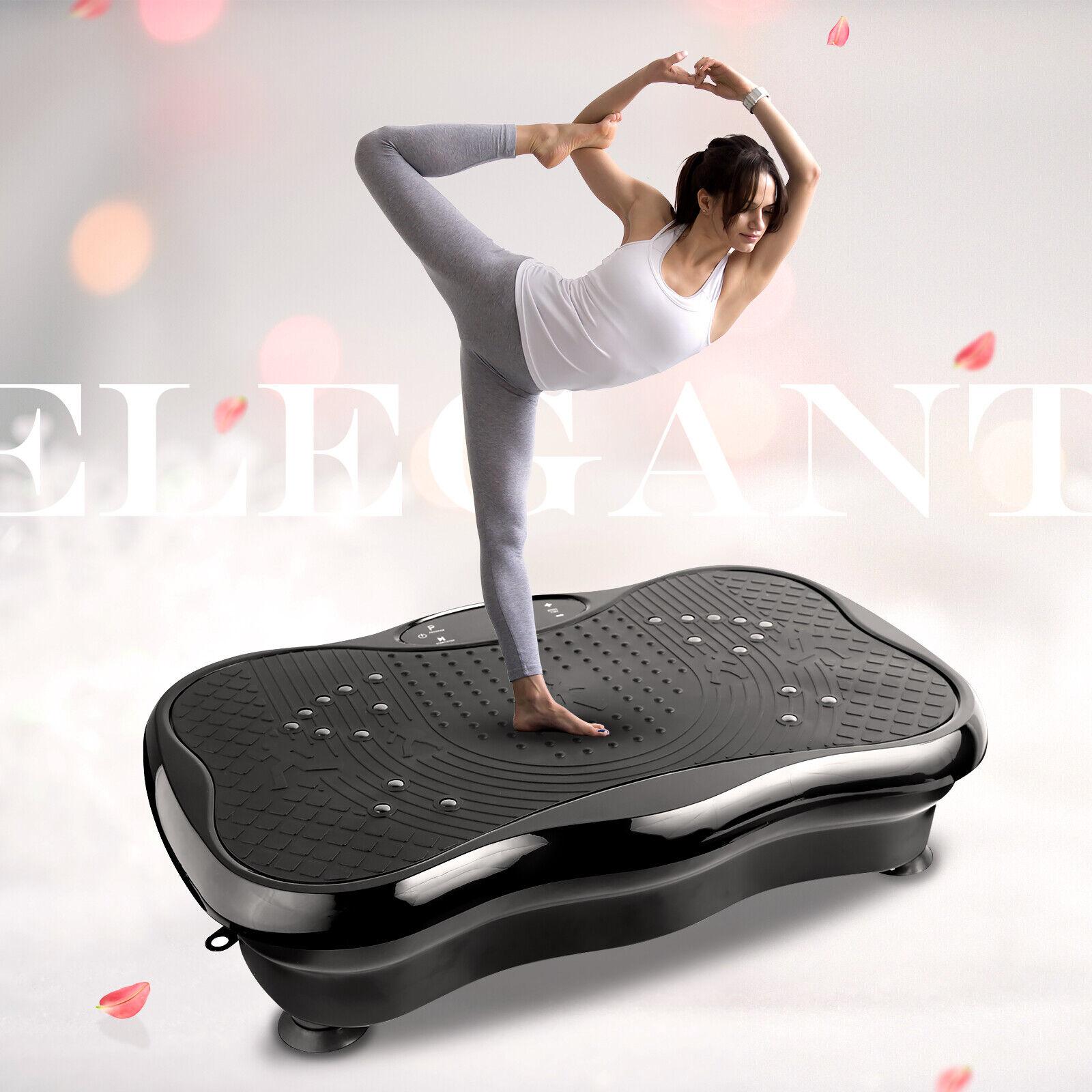 3D Vibrationsplatte Fitness Fläche Ganzkörper Trainingsgerät rutschfest LCD 200W